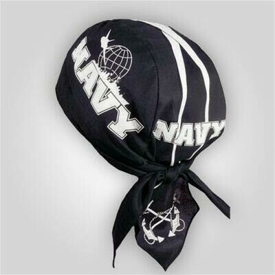 Navy White Stripe Do-Rag