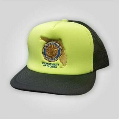 Florida Legion Neon Yellow Trucker Cap
