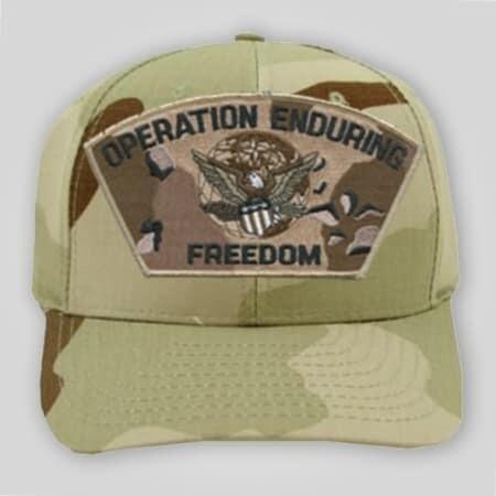 Operation Enduring Freedom Camo Emblem Cap