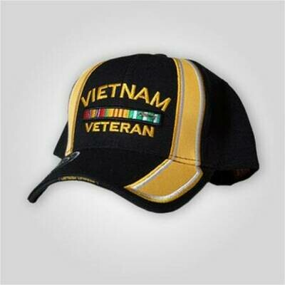 Vietnam Veteran Black/Yellow Cap