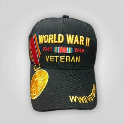 World War II Veteran Medal Cap
