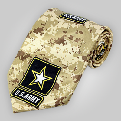 US Army Digital Desert Camo Neck Tie