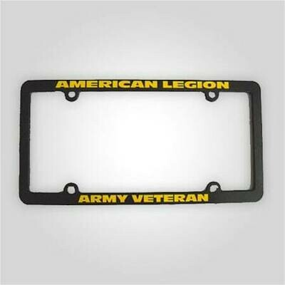 American Legion Army Veteran License Plate Frame
