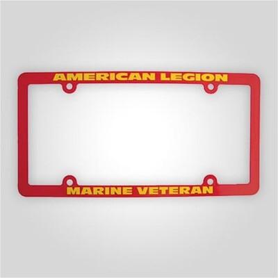 American Legion - Marines Veteran Auto Plate Frame