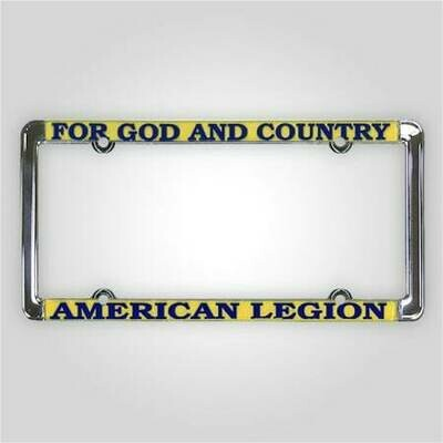 For God and Country - American Legion Auto Plate Frame