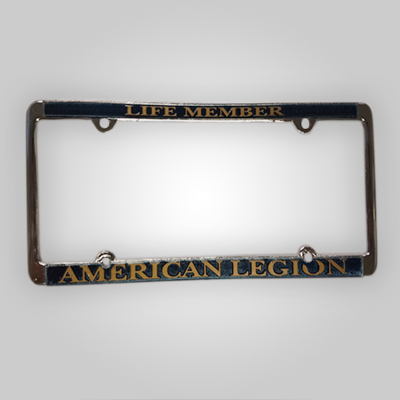 Life Member - American Legion Auto Plate Frame Gold