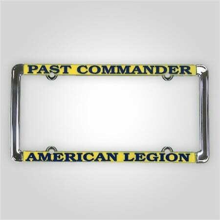 Past Commander - American Legion Auto Plate Frame