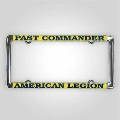 Past Commander - American Legion License Plate Frame