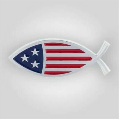 Star-Spangled Fish Auto Emblem
