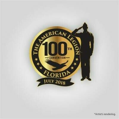 2018 FL 100th Convention Pin