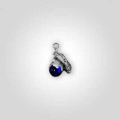 Blue Perfume Bottle Charm