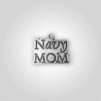 Navy Mom Charm
