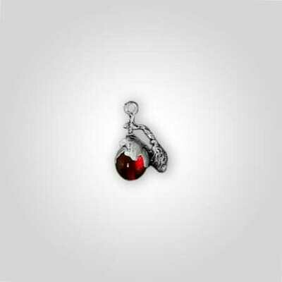 Red Perfume Bottle Charm