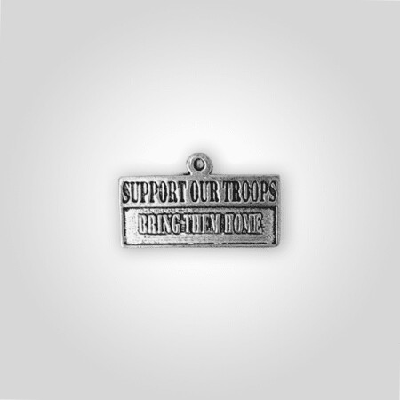 Support Our Troops Charm