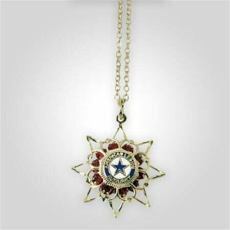 Aux Ruby Star Necklace