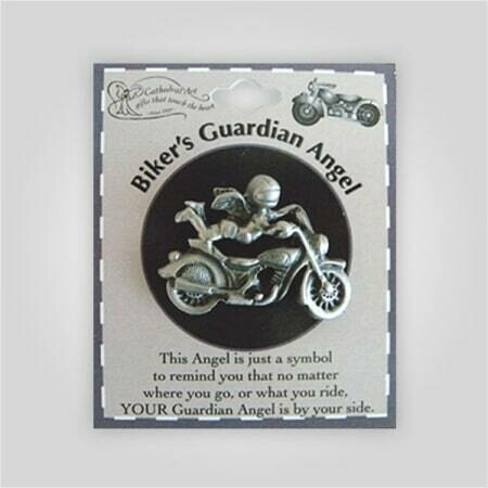 Biker's Guardian Angel Pin