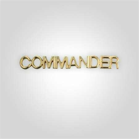 Cap Bar Pin - Commander