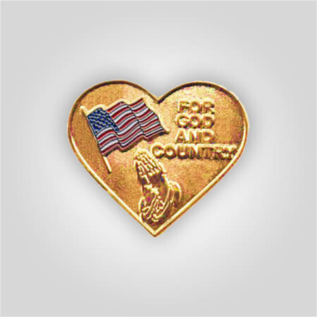 For God And Country Heart Tack