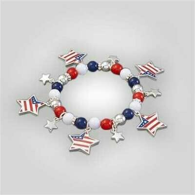Patriotic Stretch Bracelet