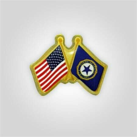 US - Auxiliary Crossed Flags Lapel Tack