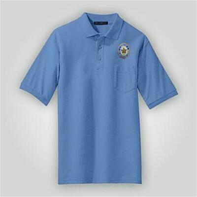 SAL Blue Pocket Polo