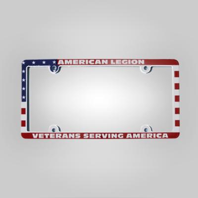 American Legion - Veterans Serving America Auto Plate Frame