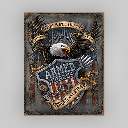 """Armed Forces"" Tin Sign"