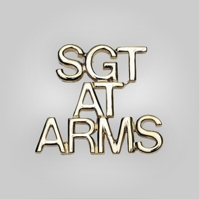 Cap Bar Pin - Sgt-At-Arms