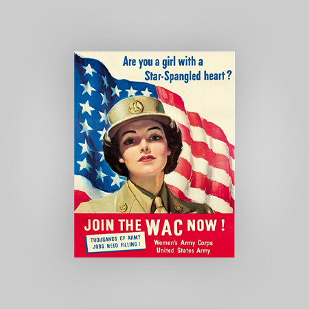 """Join the WAC"" Tin Sign"