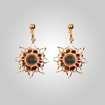 Legion Ruby Star Earrings