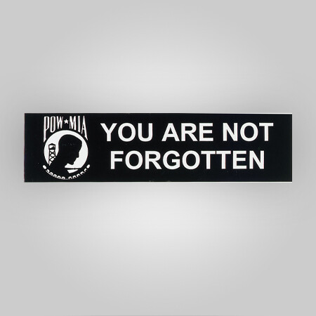 POW-MIA Removable Bumper Sticker