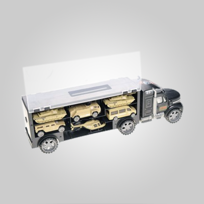Military Vehicle Transport Truck Toy Set