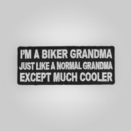 I'm A Biker Grandma Patch