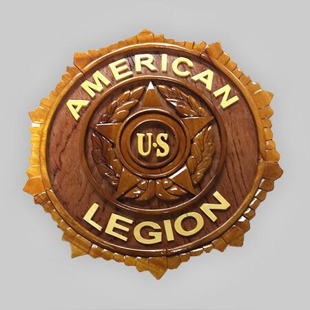 Legion Emblem Wood Plaques