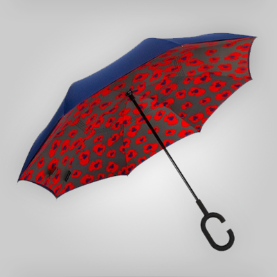 Poppies Inverted Umbrella