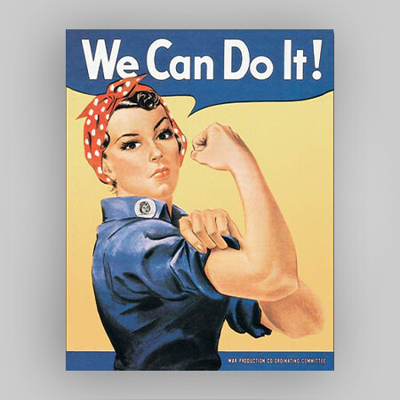 """""""We Can Do It"""" Tin Sign"""