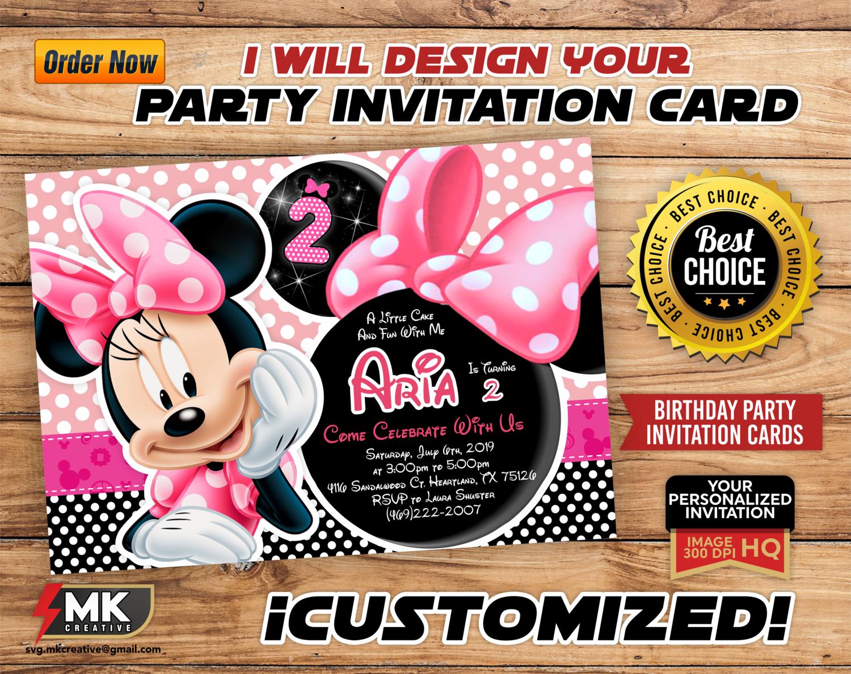Custom Party Invitation Card Custom Birthday Invitation Cards And Invitations Invitations Custom Invite Invitation Design Printable Digital