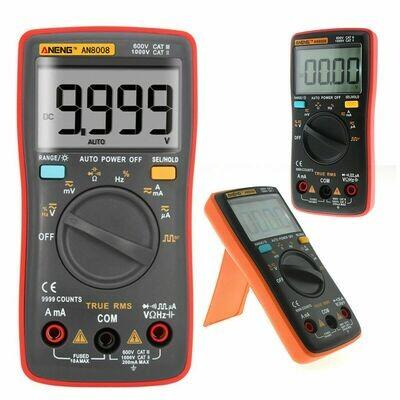 Multímetro Digital True RMS ANENG AN8008 - Amperímetro tensão de onda quadrada