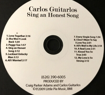CD-Sing An Honest Song  ((All Acoustic))