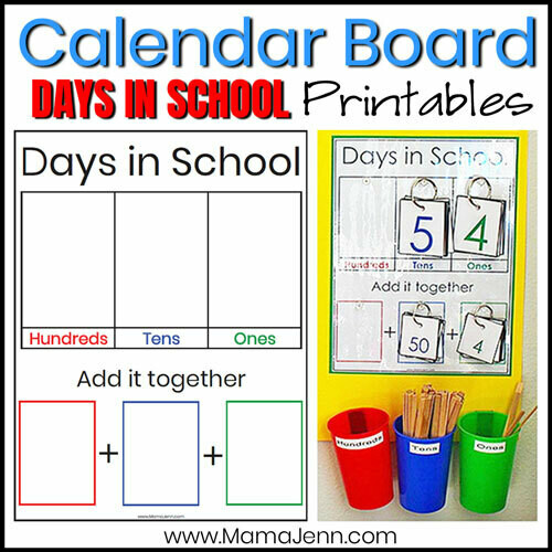 Calendar Board: Days in School