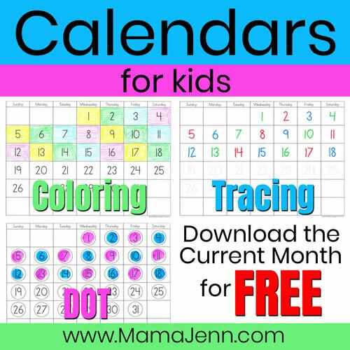 Calendars for Kids