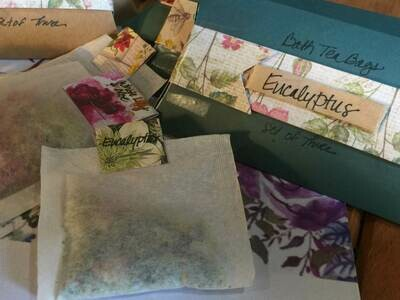 Eucalyptus with Relaxing Herbs Bath Tea Bag Set of Three