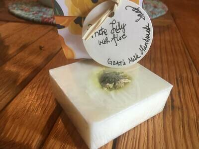 White Lily and Aloe Goat's Milk Soap