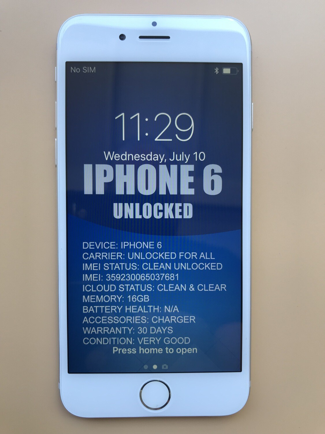 iPhone 6 16GB Unlocked Silver