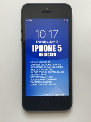 iPhone 5 16GB Unlocked Used