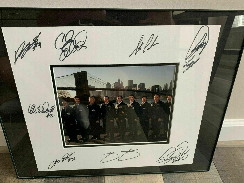 2007 NASCAR Champion's Photo signed by Johnson, Edwards, Hornaday, Logano & more