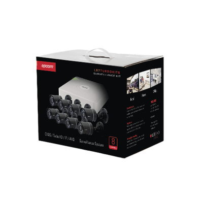 All in One CCTV Kit / Includes 720p DVR / Hik-Connect P2P / 8 Bullet Cameras
