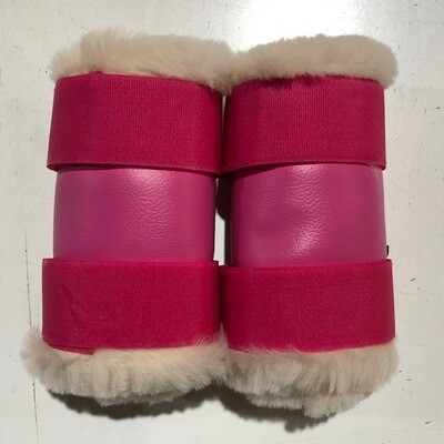 Sheepskin Rolled Vinyl Paddock Boots (Small Pony)
