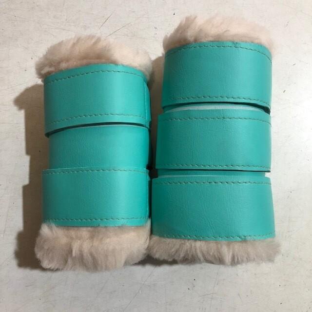 Sheepskin/ Vinyl Show Boots (Pony)