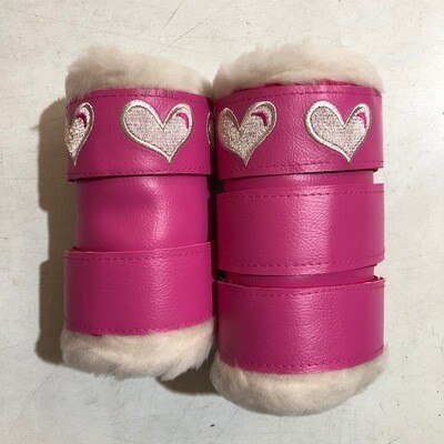 Sheepskin/ Vinyl Embroidered Show Boots (Pony)